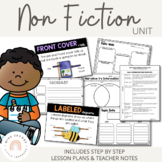 Non Fiction Reading & Writing Unit detailed lesson plans | Distance Learning