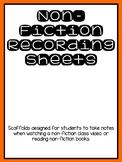 Non-Fiction Recording Sheet
