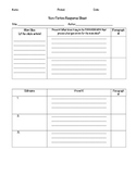Non-Fiction Response Sheet for Middle School