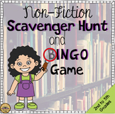 Non-Fiction Scavenger Hunt and BINGO Game for Library