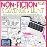 Non-Fiction Text Scavenger Hunt {PDF & DIGITAL Version}