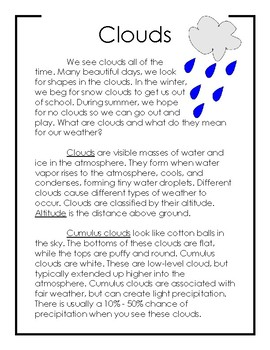 Non-Fiction Science Readers: Clouds