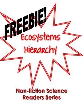 Non-Fiction Science Readers: Ecosystems Hierarchy