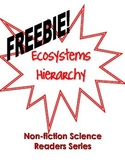 Non-Fiction Science Readers: Ecosystems Hierarchy