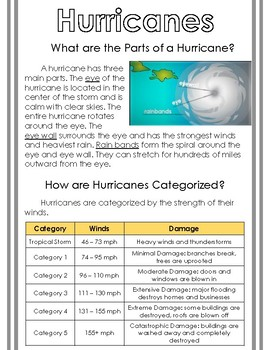 Non-Fiction Science Readers: Hurricanes