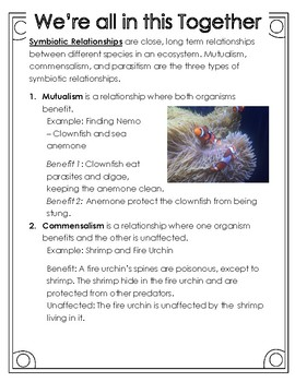 Non-Fiction Science Readers: Organisms' Relationships