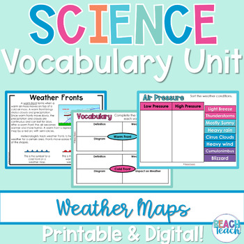 Non-Fiction Science Readers: Weather Maps