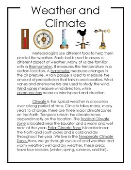Non-Fiction Science Readers: Weather and Climate