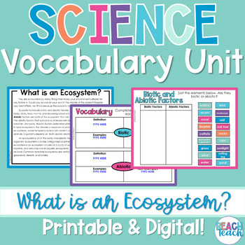 Non-Fiction Science Readers: What is an Ecosystem?
