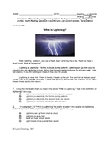 Non-Fiction Science  Reading Comprehension Quiz (Lexile 280)