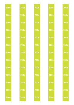 Non Fiction Spine Labels: 700s - Avery A4 L7651
