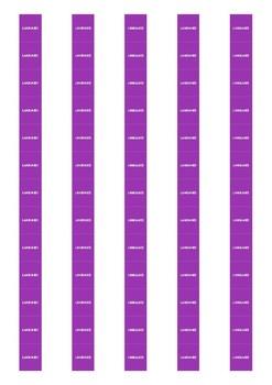 Non Fiction Spine Labels: Languages - Avery A4 L7651
