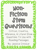 Non-Fiction Stem Questions for Reading Comprehension