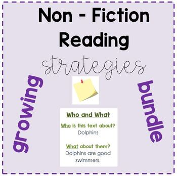 Non-Fiction Strategy Post-Its GROWING BUNDLE