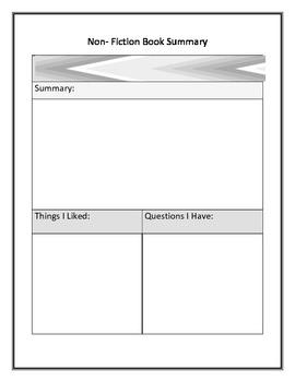 Non-Fiction Summary Graphic Organizer
