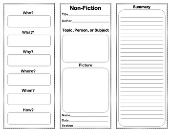 Non-Fiction Summary Pamphlet