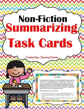 Summarizing Task Cards - Non-Fiction - Summary Task Cards -  Non-Fiction