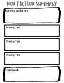 Non Fiction Summary Worksheet