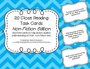 Non-Fiction Task Cards