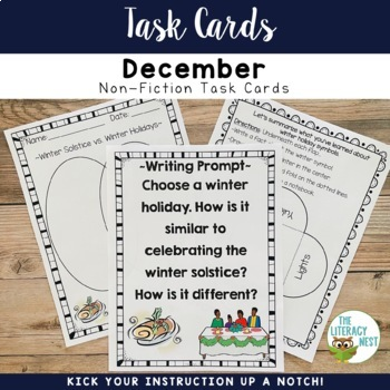 December Centers Task Cards