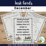 Task Cards: Winter Solstice   Informational Text Activity