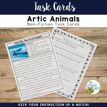 January Centers Arctic Animals Non-Fiction Task Cards