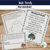 Informational Text Task Cards Turkeys Non-Fiction Set