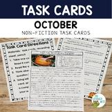 Informational Text Task Cards Pumpkins