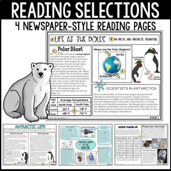 Polar Regions Nonfiction Task Cards