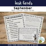 Johnny Appleseed Task Cards Literacy Center Non-Fiction Reading