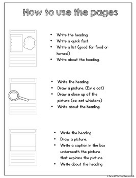 Non-Fiction Templates for Early Authors (Grades K-2)