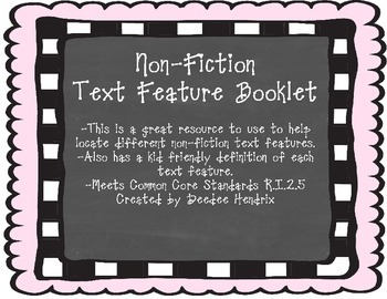 Non-Fiction Text Booklet