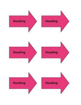 Non Fiction Text Convention Arrows