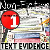 Reading Comprehension Passages and Questions Nonfiction {BUNDLE Semester 1}