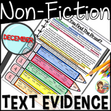 Non-Fiction Reading Passages Text Evidence {December}