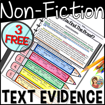 Non-Fiction Text Evidence FREE