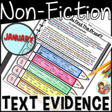 Non-Fiction Reading Passages Text Evidence {January}