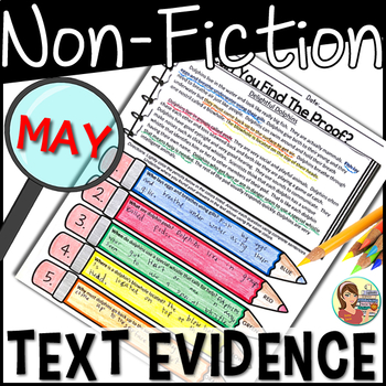 Non-Fiction Passages Text Evidence {May}