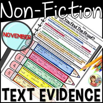 Non-Fiction Text Evidence {November}