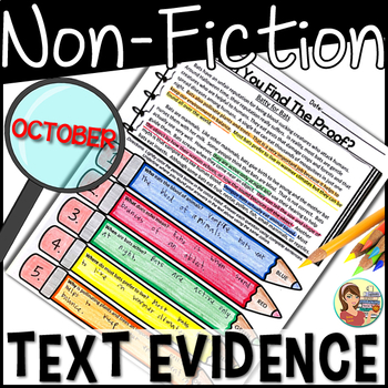Non-Fiction Passages Text Evidence {October}