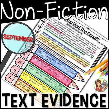 Non-Fiction Text Evidence {September}