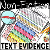 Non-Fiction Reading Passages Text Evidence {September}