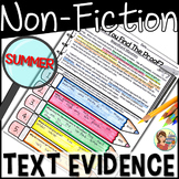 Non-Fiction Passages Text Evidence {Summer}