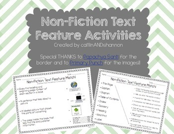 Non Fiction Text Feature Activities-differentiated!!