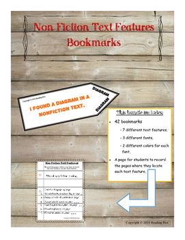 Non-Fiction Text Feature Bookmarks