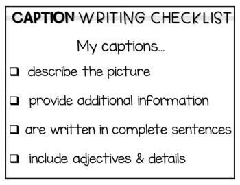 Non-Fiction Text Feature Caption Writing Center