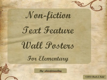 Non-Fiction Text Feature Hall Posters