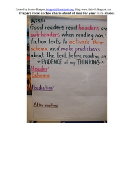 Non-Fiction Text Feature: Headers & Subheaders