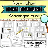 Non-Fiction Text Features Scavenger Hunt - Paper AND Digital   Distance Learning