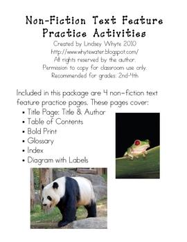 Non-Fiction Text Feature Practice